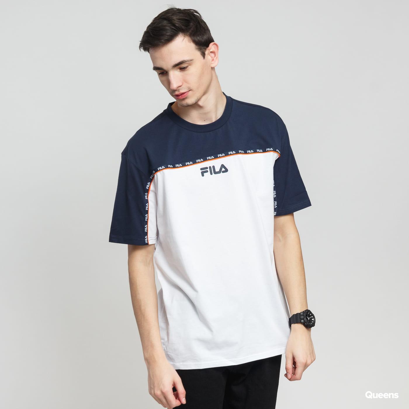 63b296c3 Short Sleeve T-Shirts Fila Men DSTR97 Tee white / navy / orange (687117  G13) – Queens 💚