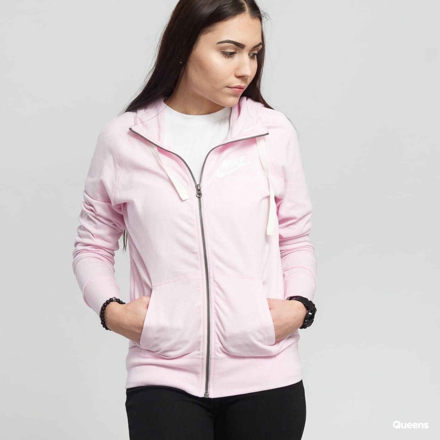 get online classic styles performance sportswear Nike W NSW Gym Vintage Hoodie FZ melange light pink