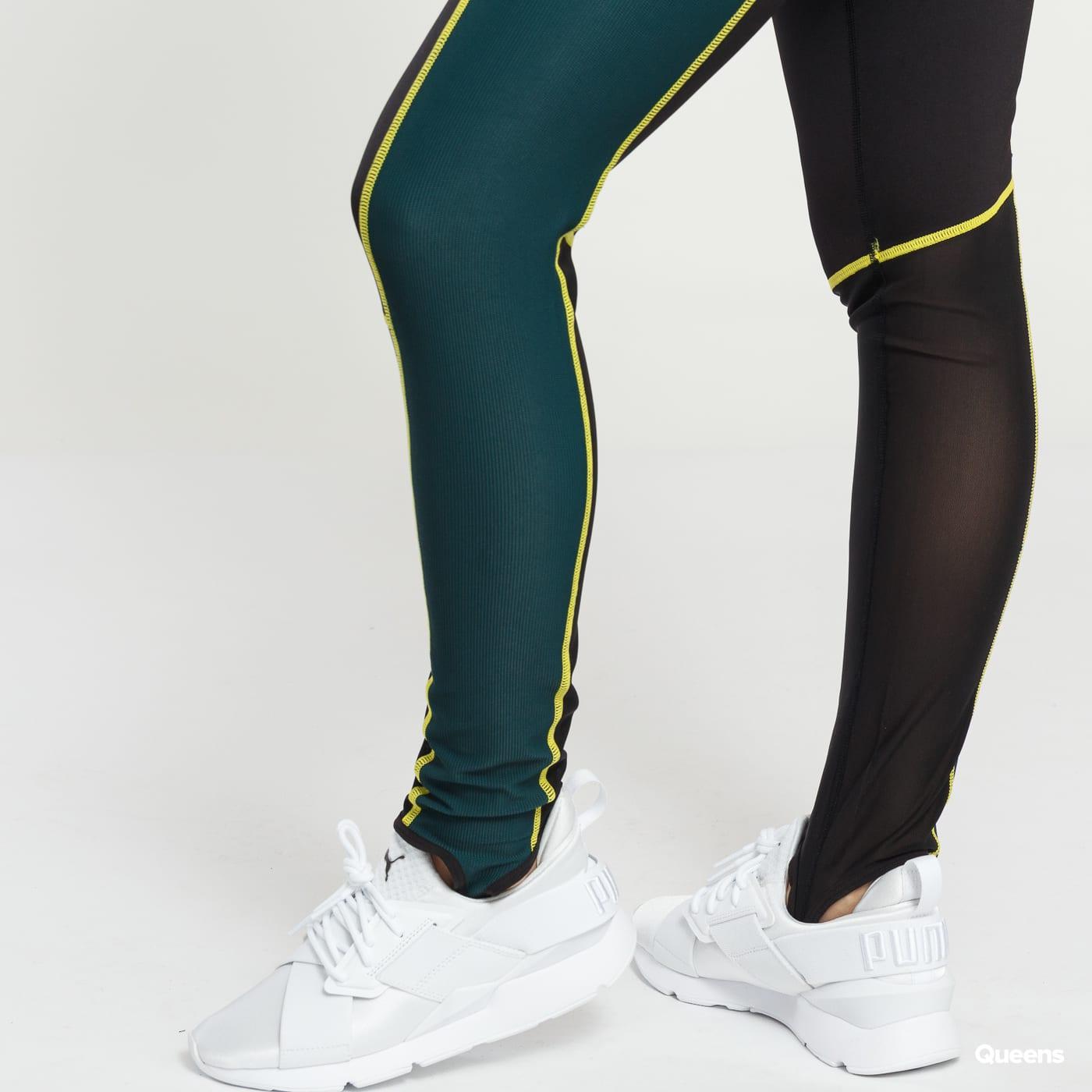 Puma TZ Highwaist Legging čierne / tmavozelené
