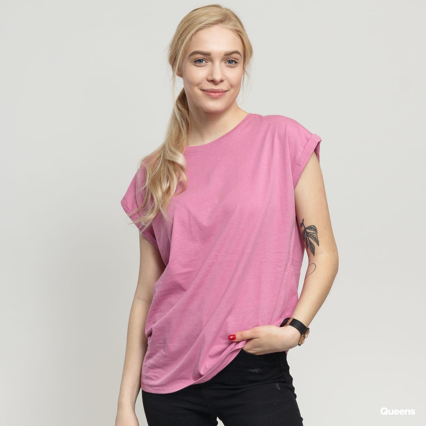 Urban Classics Ladies Extended Shoulder Tee dunkelrosa