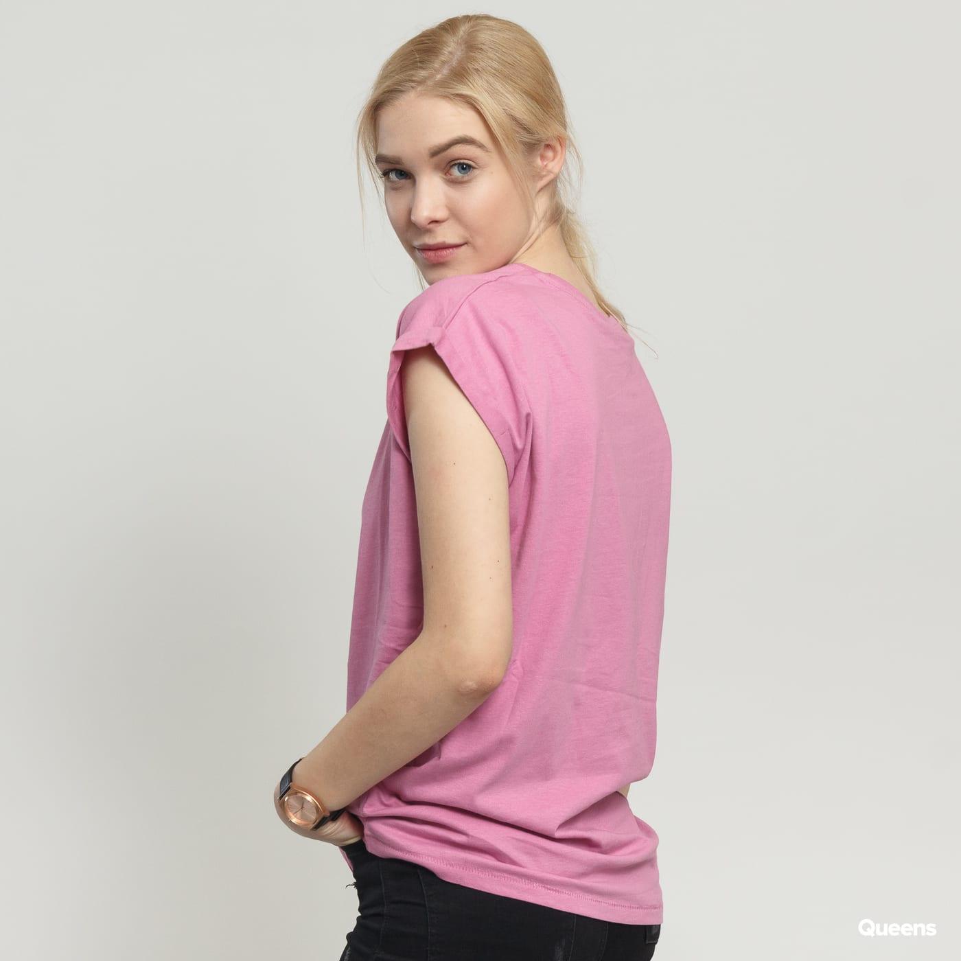 Urban Classics Ladies Extended Shoulder Tee dark pink