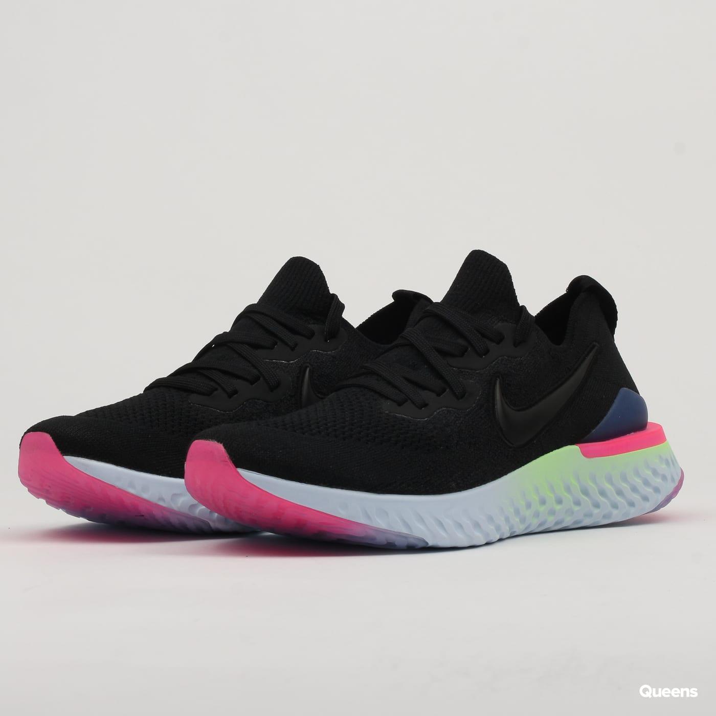 Nike Epic React Flyknit 2 black black sapphire