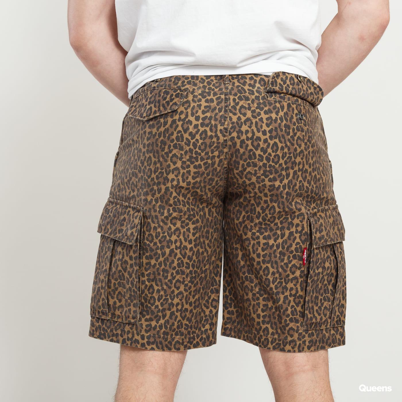 Levi's ® Hi-Ball Cargo Shorts čierne / tmavobéžové / hnedé
