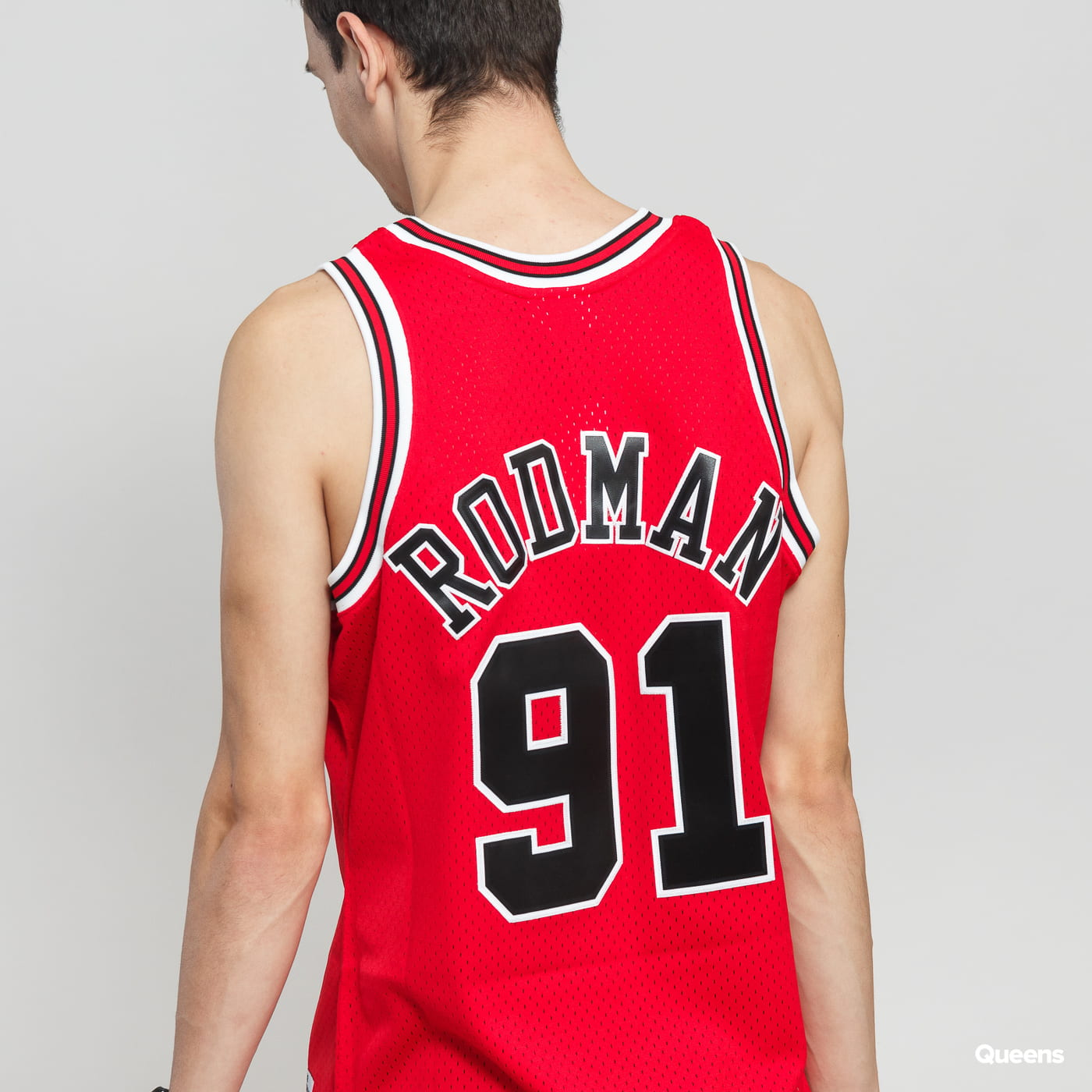 Mitchell & Ness NBA Swingman Jersey Chicago Bulls Dennis Rodman #91 rot