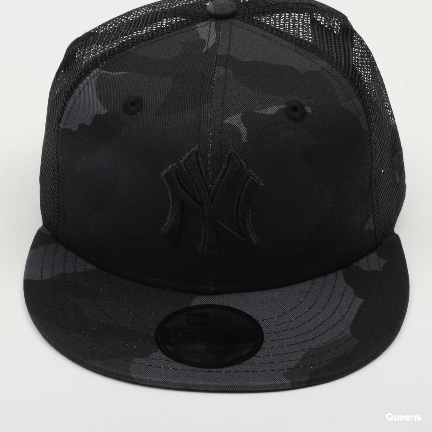New Era 950 Trucker MLB League camo čierna / tmavošedá