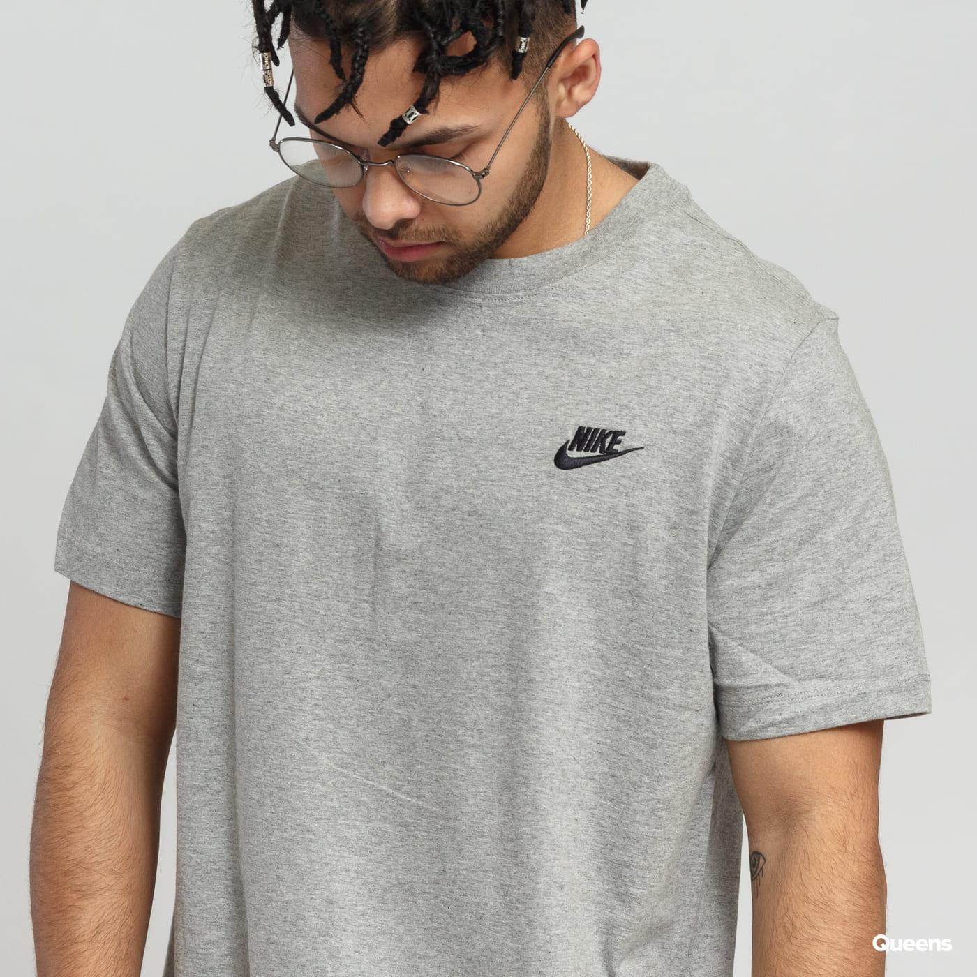 Nike M NSW Club Tee grau melange