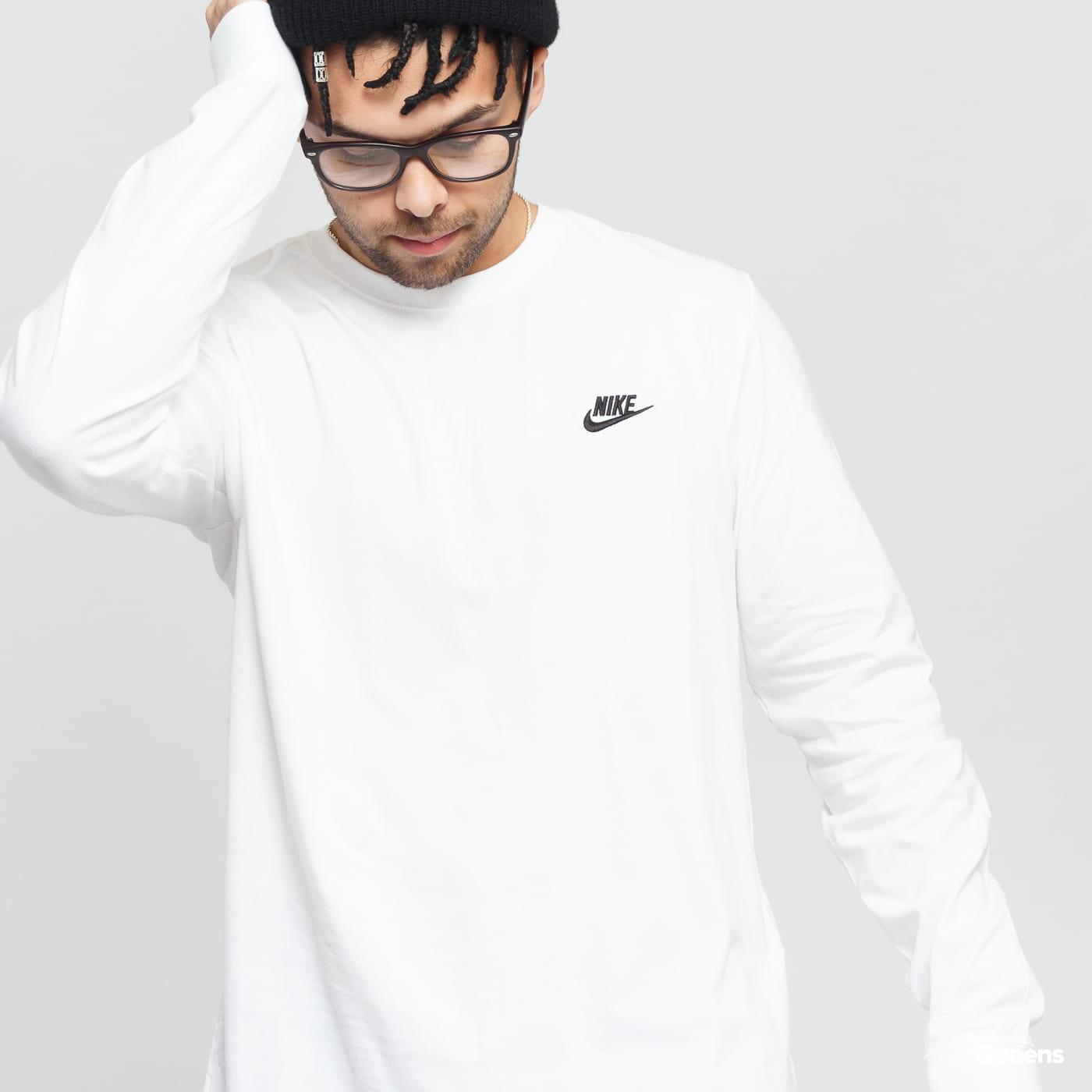 Nike M NSW Club Tee - LS weiß