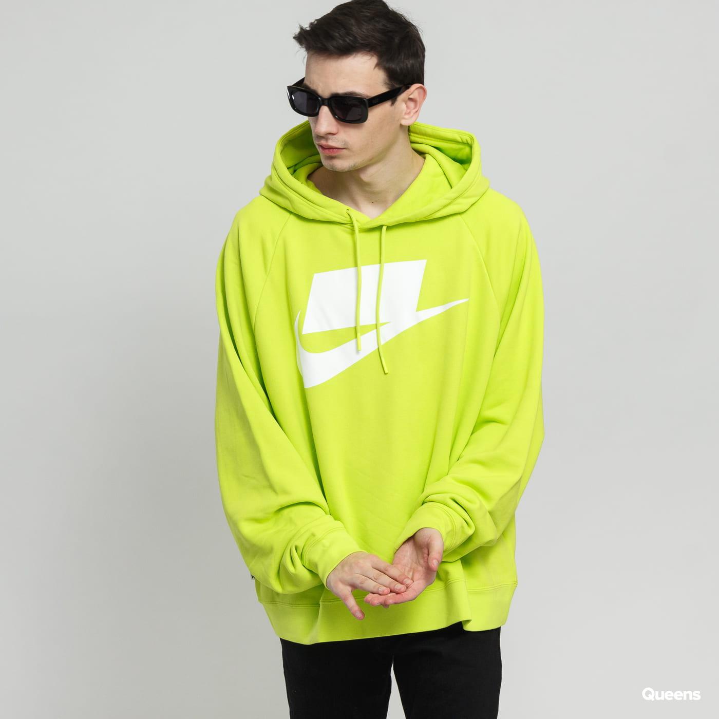 12e9268be Sweatshirt / Hoodie Nike M NSW NSP Hoodie FT neon yellow green (AR4854-389)  – Queens 💚