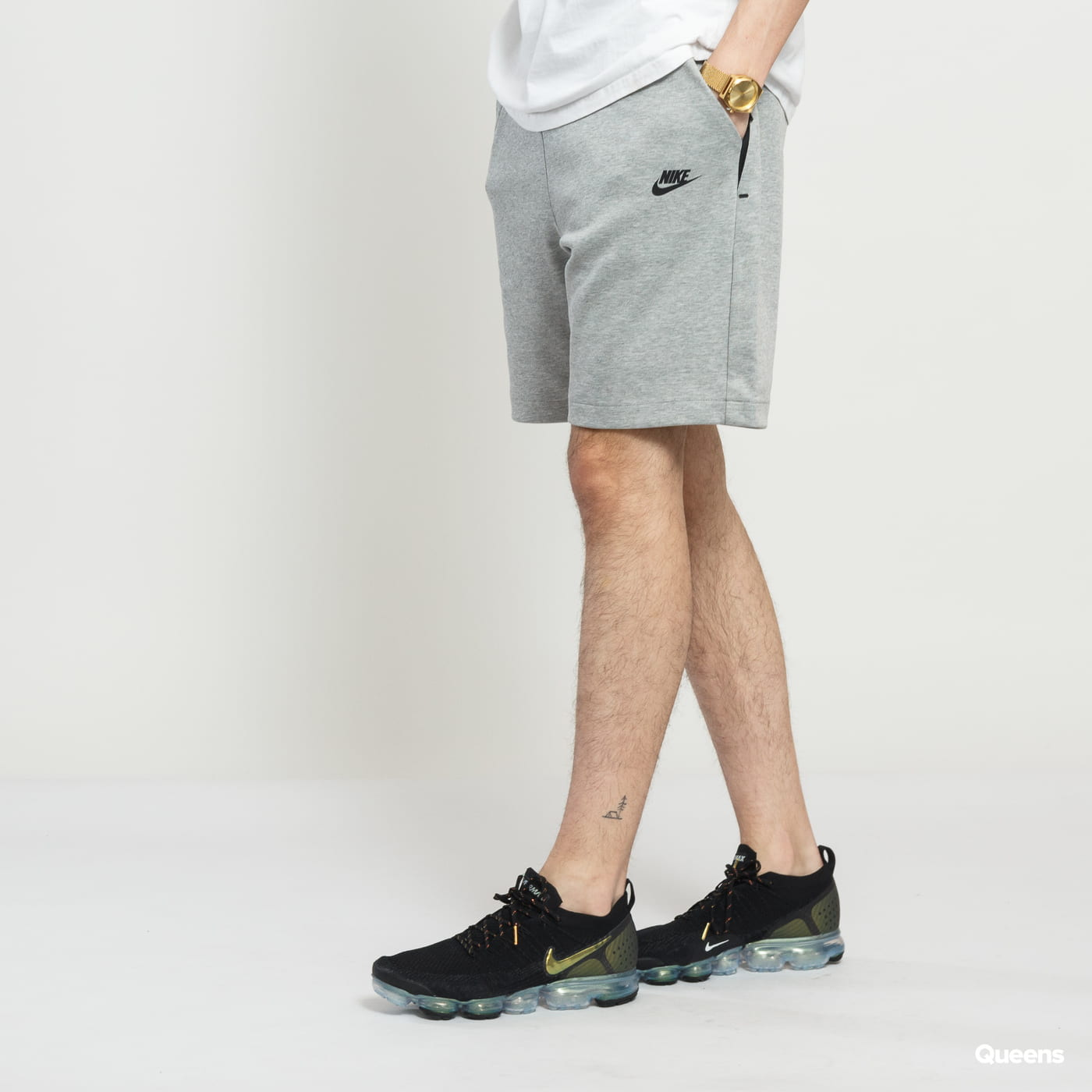 Nike M NSW Tech Fleece Short melange šedé
