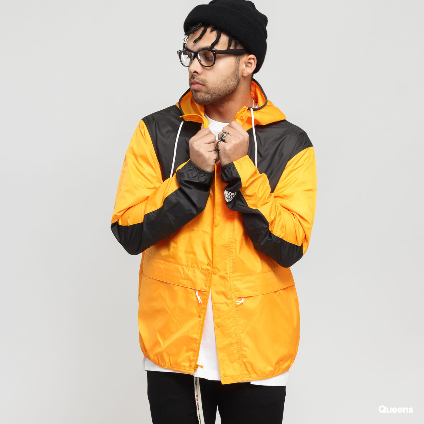 official images best loved best sale Windbreaker The North Face M 1985 Mountain Jacket orange / black ...