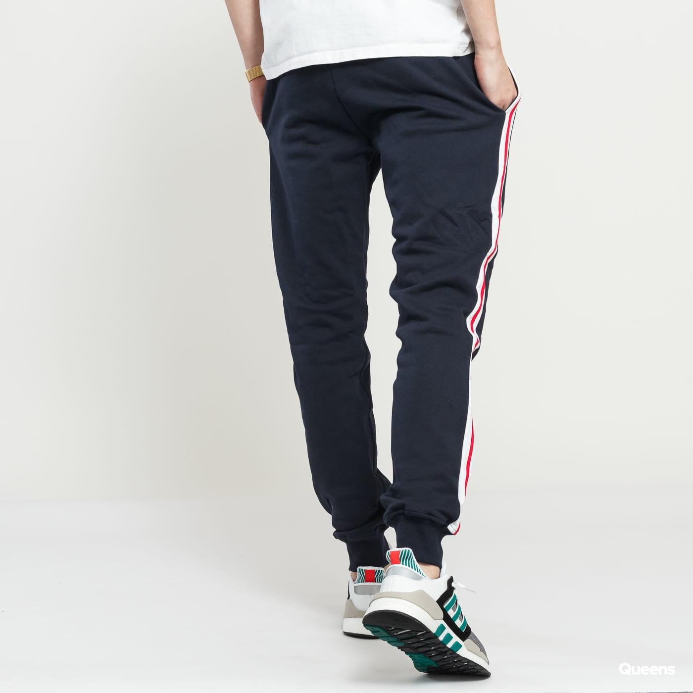 Urban Classics 3-Tone Side Stripe Terry Pants navy / biele / červené