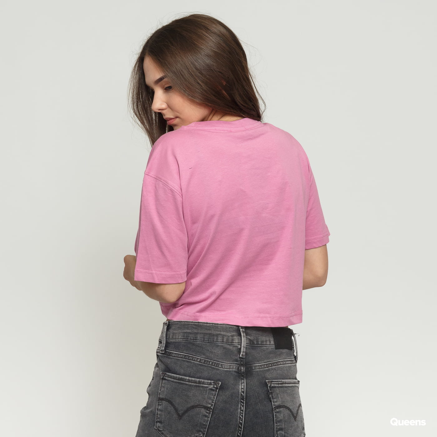 Urban Classics Ladies Short Oversized Tee dunkelrosa