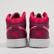 Jordan Air Jordan 1 Mid (GS) true berry / rush pink - white