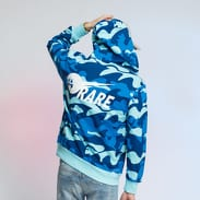 Pink Dolphin Ocean Camo Zip Hoodie camo modrá