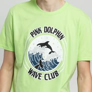 Pink Dolphin Club Crest Tee světle zelené