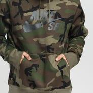 Nike M NK SB Hoodie Icon ERDL camo zelená