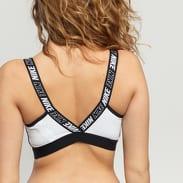 Nike Sport Distort Classic Bra černý / bílý / melange šedý