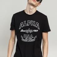 Alpha Industries Alpha FJ Tee černé