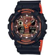 Casio G-Shock GA 100BR-1AER černé / oranžové