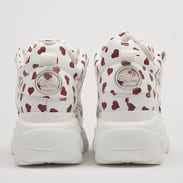 Buffalo Classic Low Leather white / red hearts