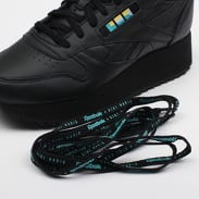 Reebok Classic Leather Double W black / white / blue / gold