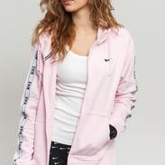 Nike W NSW Hoodie FZ Logo Tape růžová