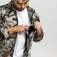 Urban Classics Camo Cotton Coach Jacket camo šedá / černá / vínová