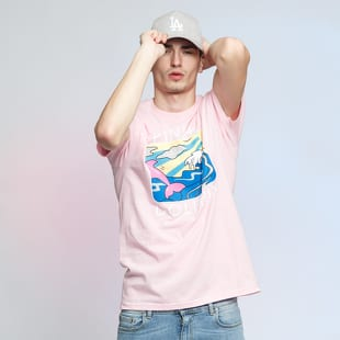 Pink Dolphin Holiday Portrait Tee