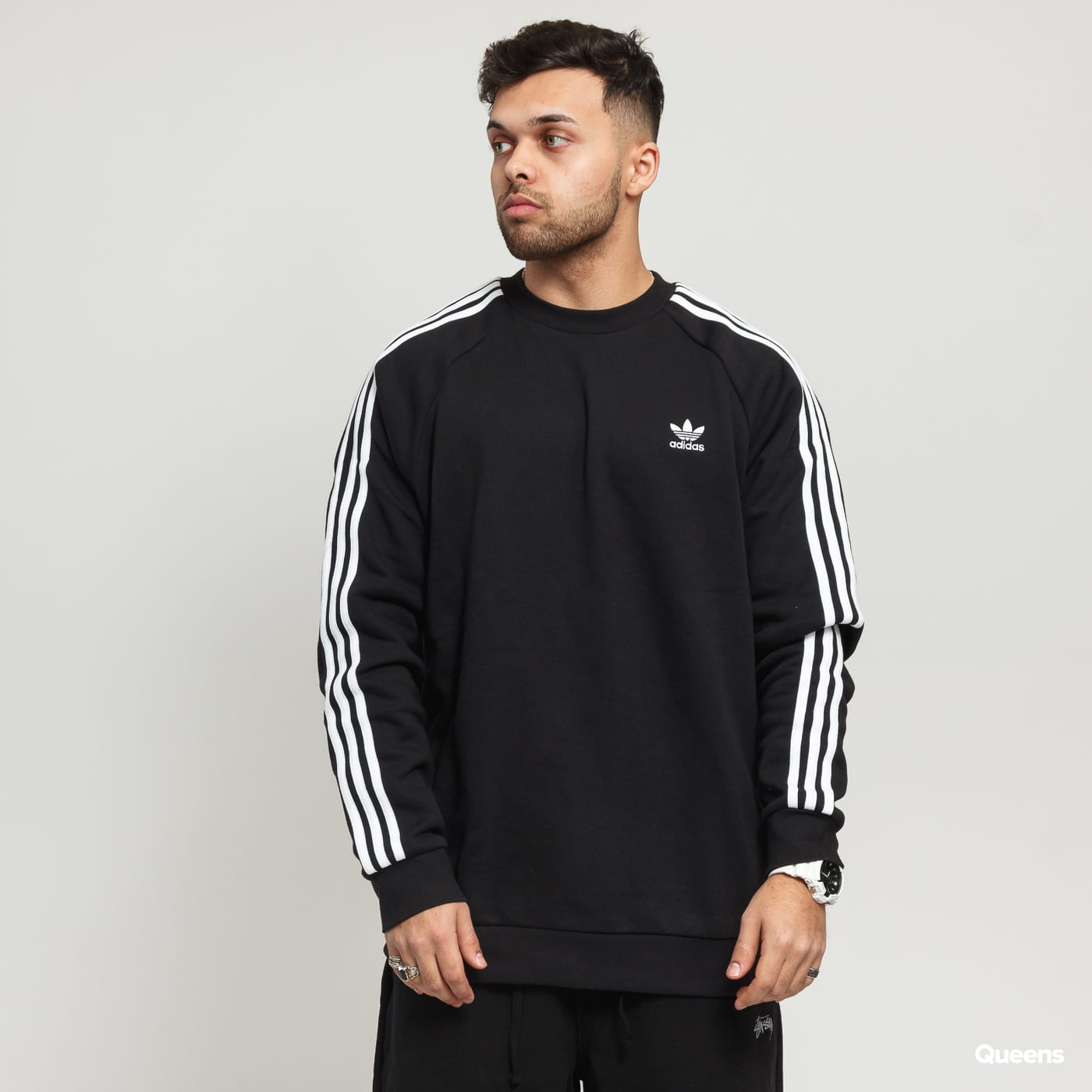 DV1555 MEN/'S SWEATSHIRT SNEAKERS ADIDAS ORIGINALS 3-STRIPES