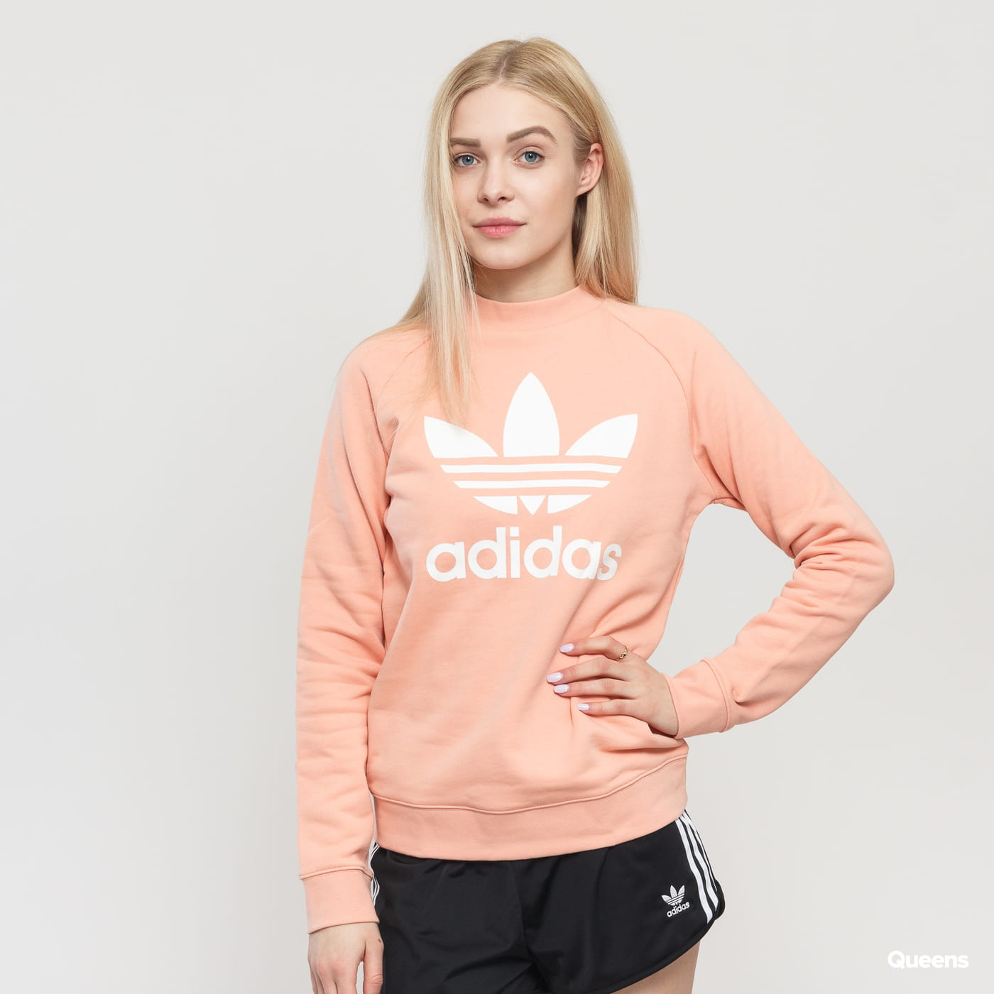 adidas Originals Women CREW Sweatshirt orange 100% cotton