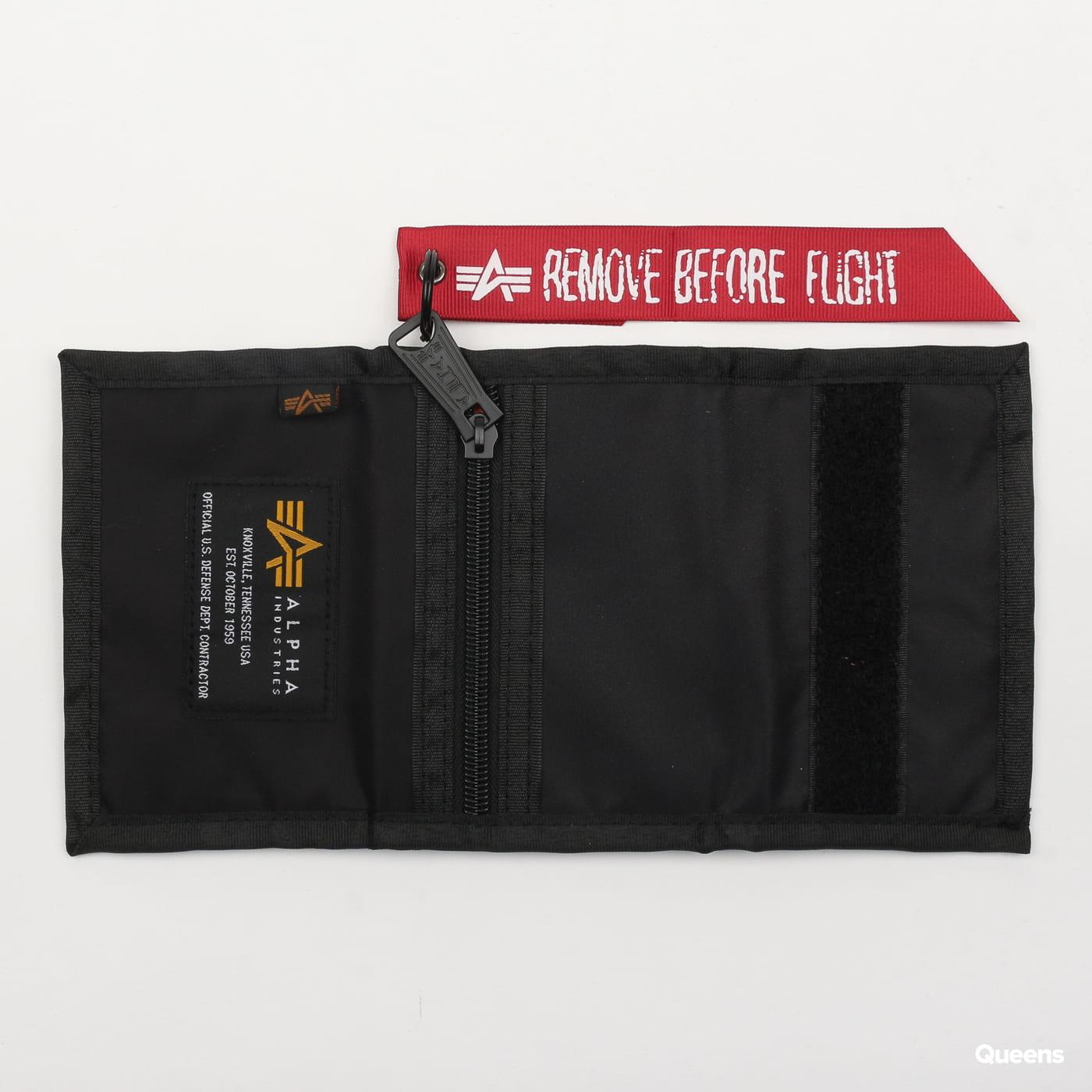 Alpha Industries Crew Wallet čierna