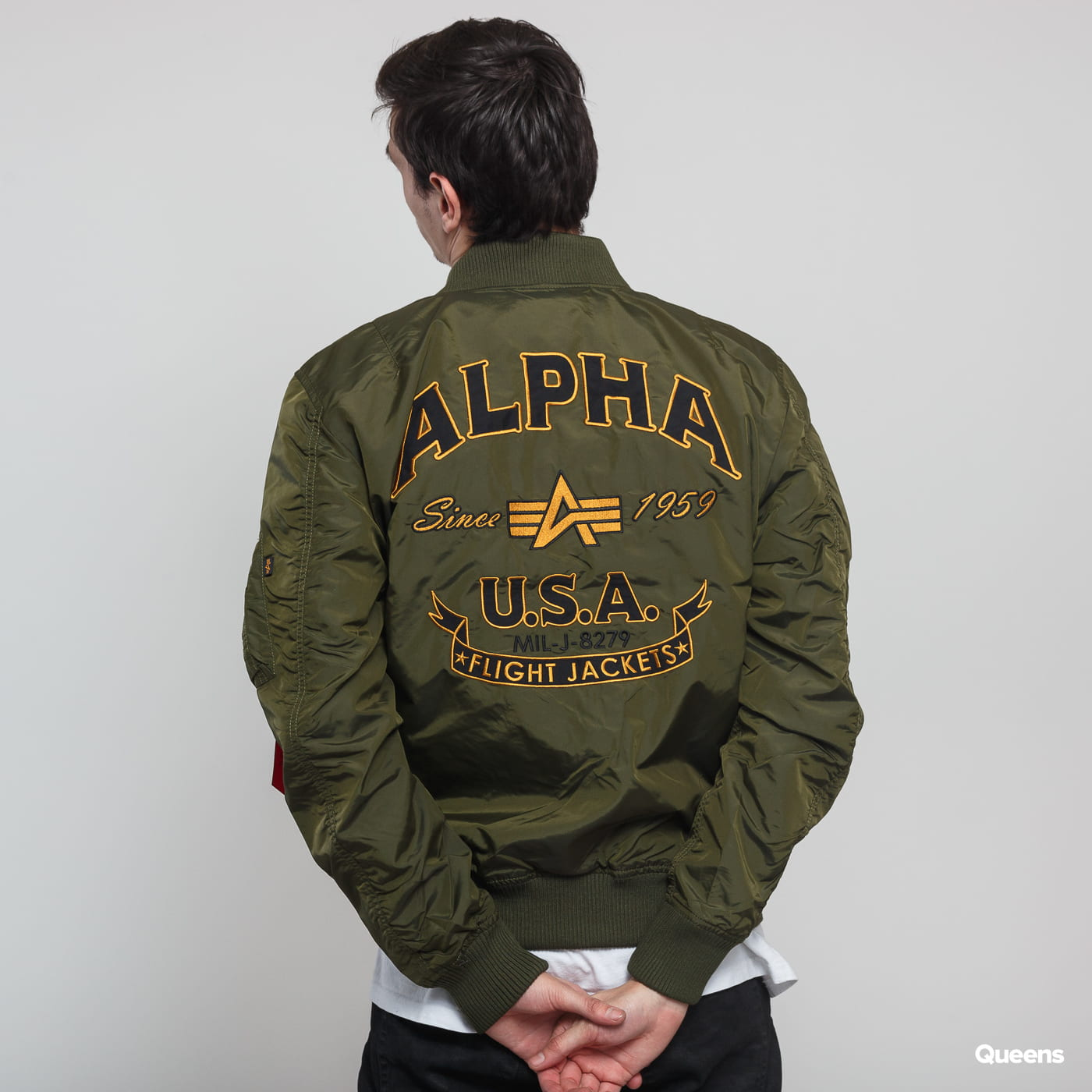 Alpha Industries MA-1 TT Patch SF tmavo olivová