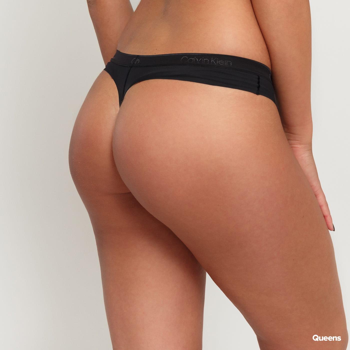Calvin Klein 2Pack Microfiber Thongs C/O black