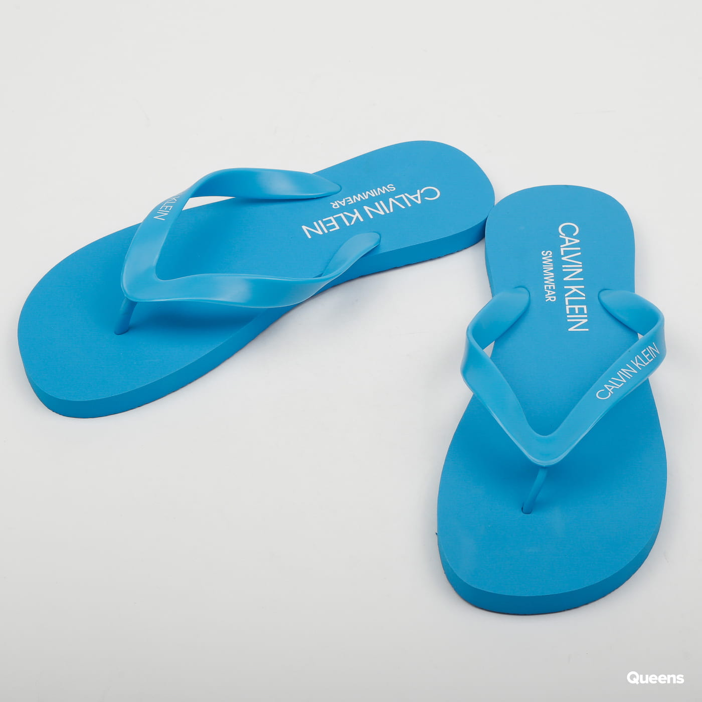 Calvin Klein Flip Flops Sandals Ibiza Blue Km0km00341