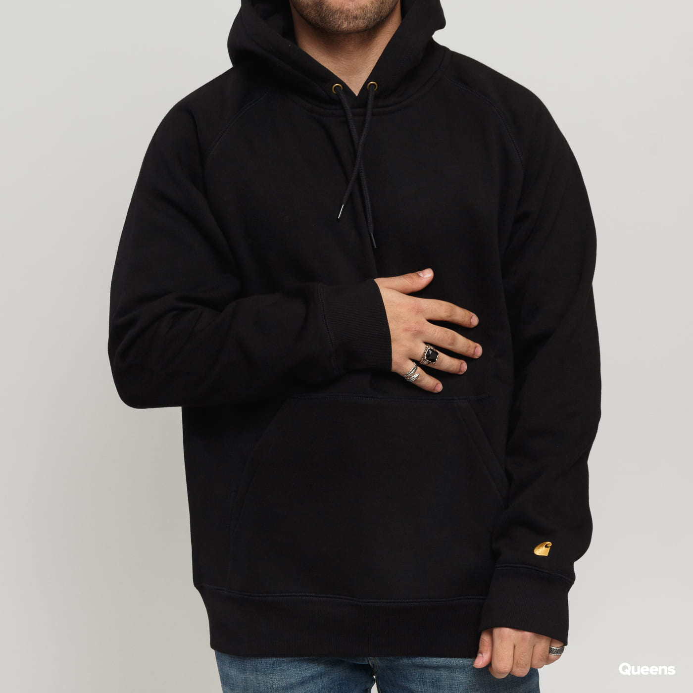 Carhartt WIP Hooded Chase Sweat schwarz