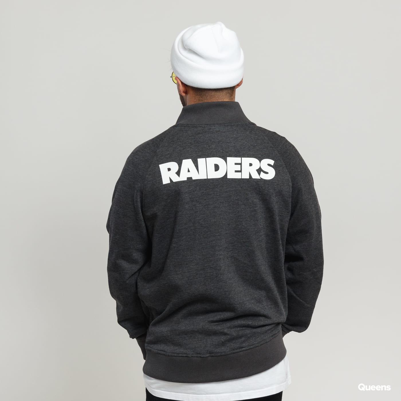 New Era NFL Core Jersey Varsity Jacket Raiders melange dark gray