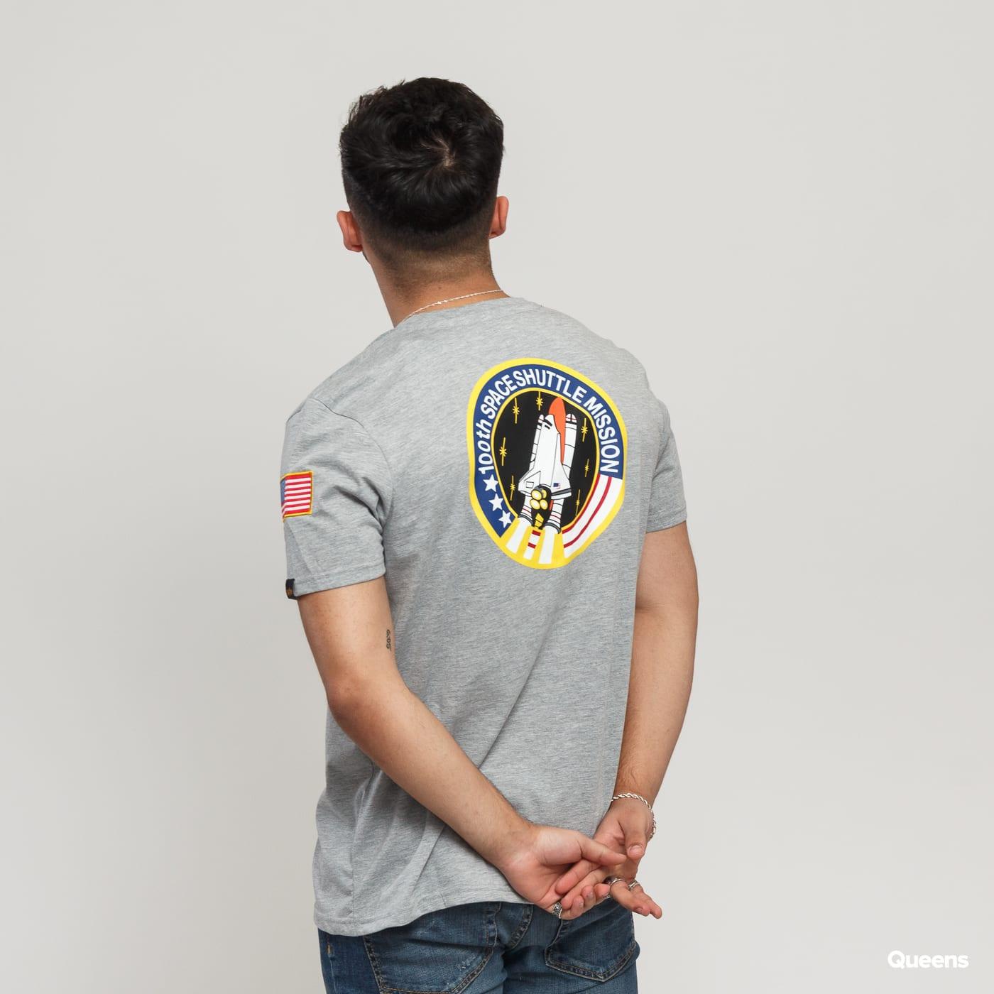 Alpha Industries Space Shuttle Tee melange gray