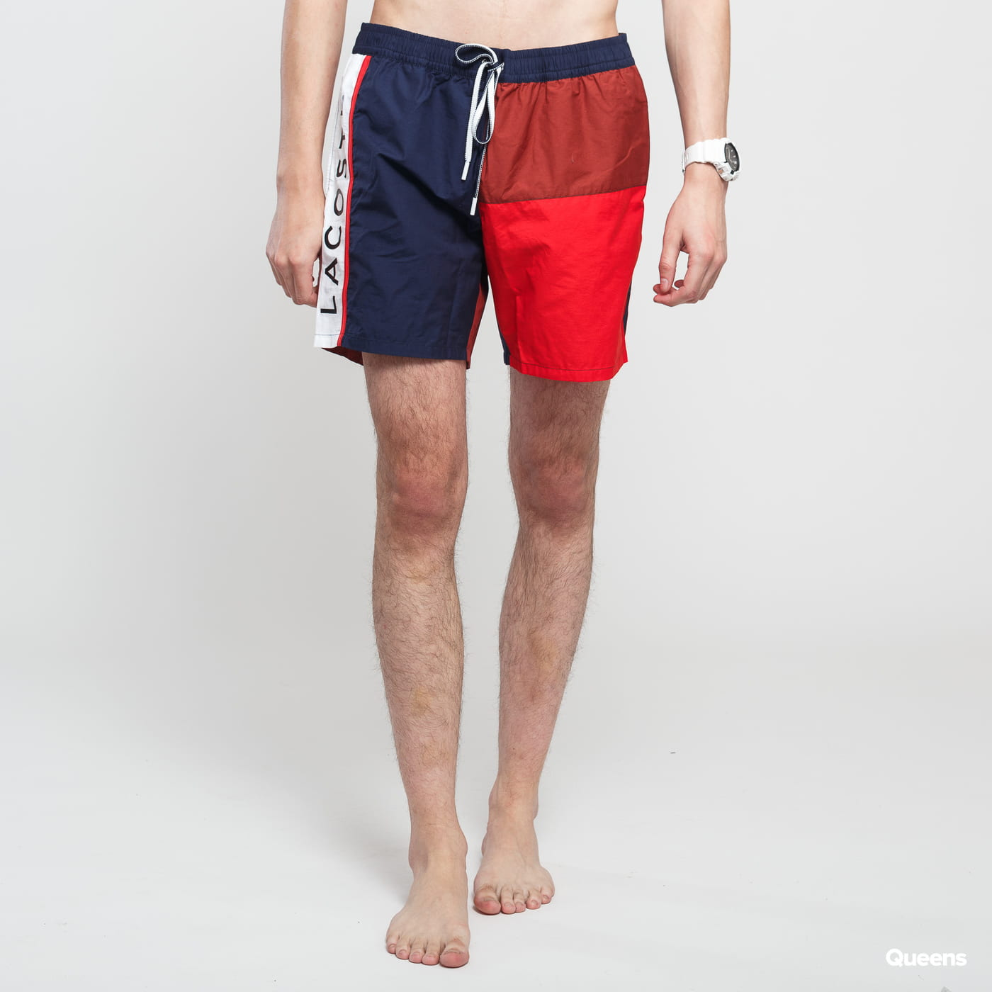 207eedc2 LACOSTE Swimming Trunks navy / brown / red / white