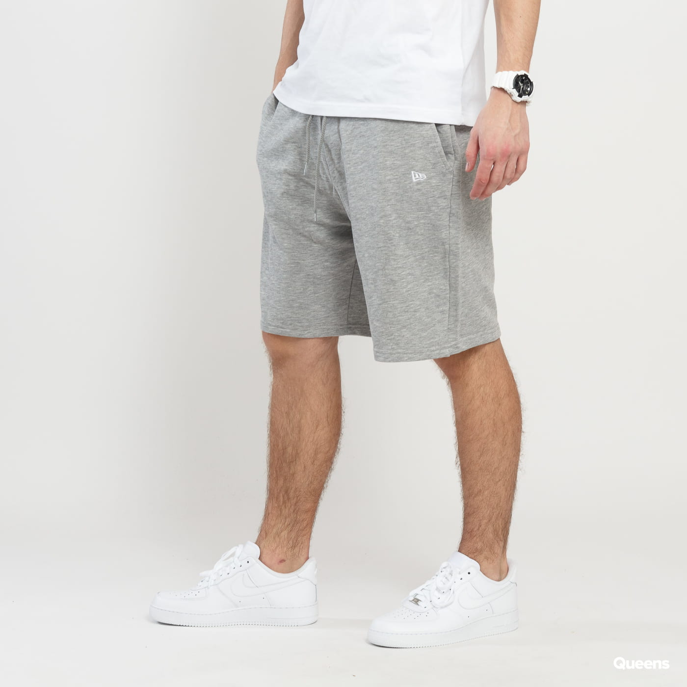 New Era NE Essential Short grau melange