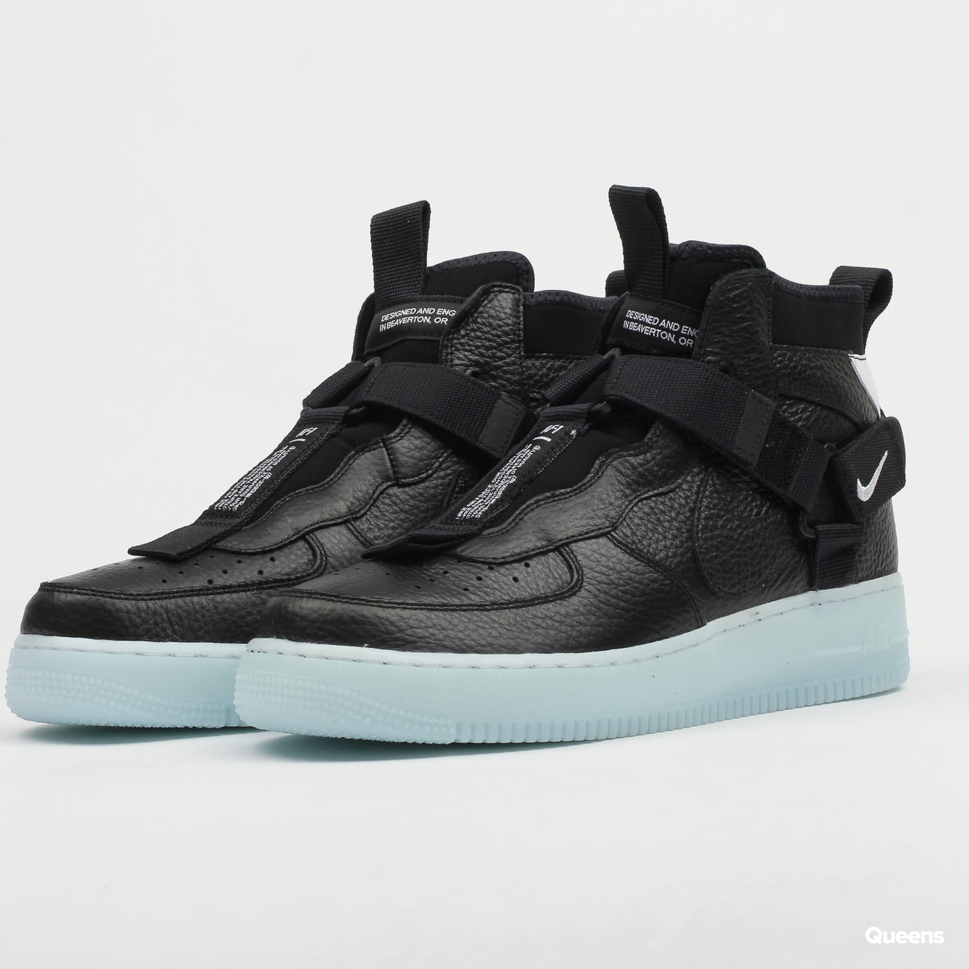 Sneakers Nike Air Force 1 Utility Mid Black Half Blue White