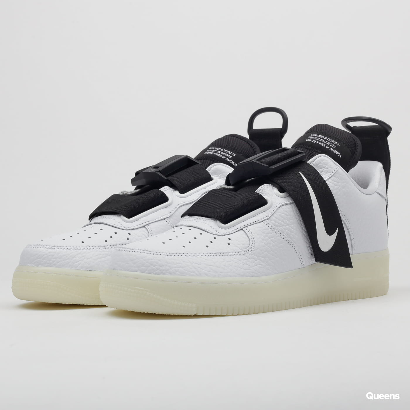 7753166d81f15 Sneakers Nike Air Force 1 Utility QS white / black (AV6247-100) – Queens 💚