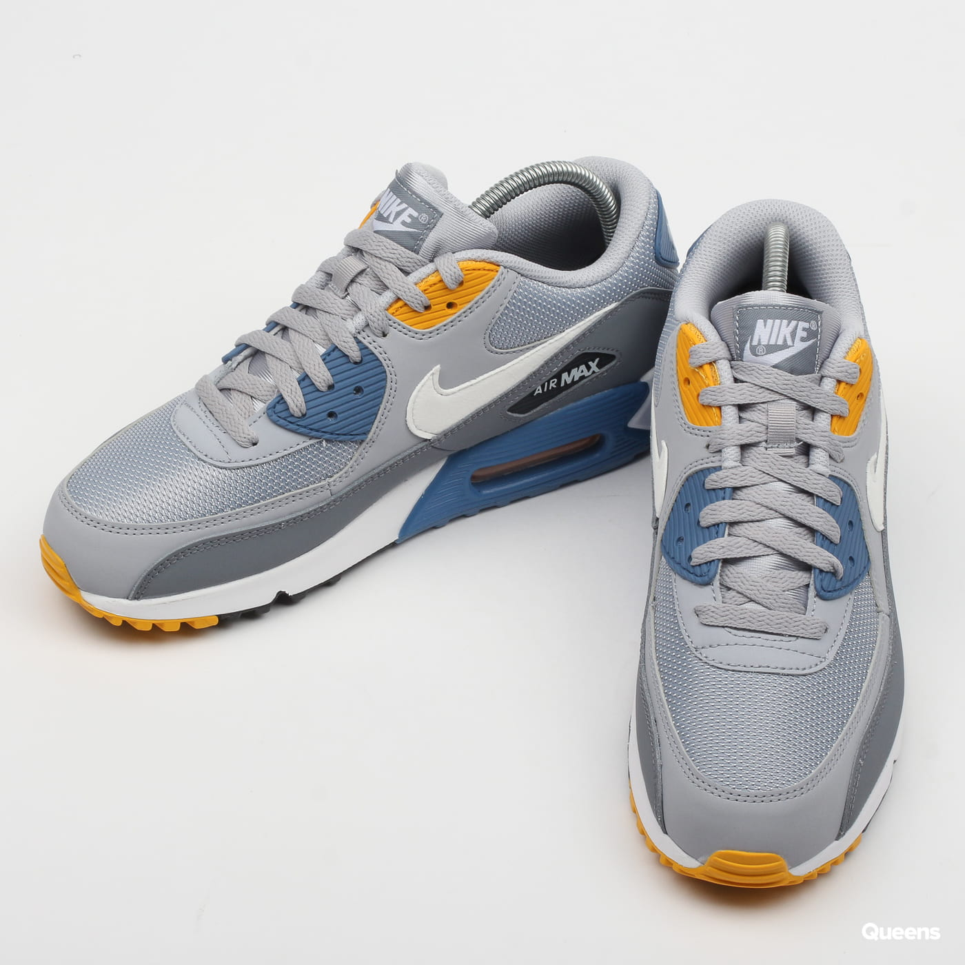 big sale 1cc60 6c96a Zoom in Zoom in Zoom in Zoom in Zoom in. Nike Air Max 90 Essential wolf grey    white - indigo storm