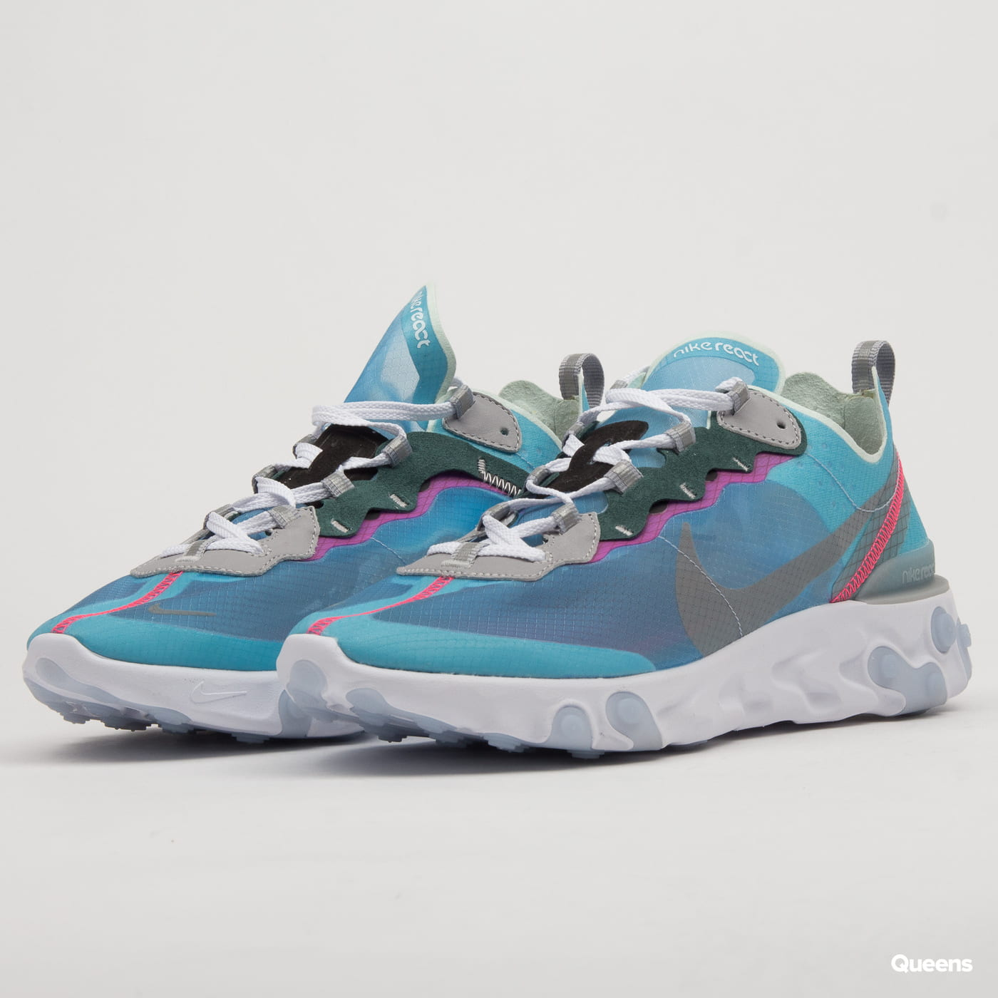 Nike React Element 87 royal tint black wolf grey