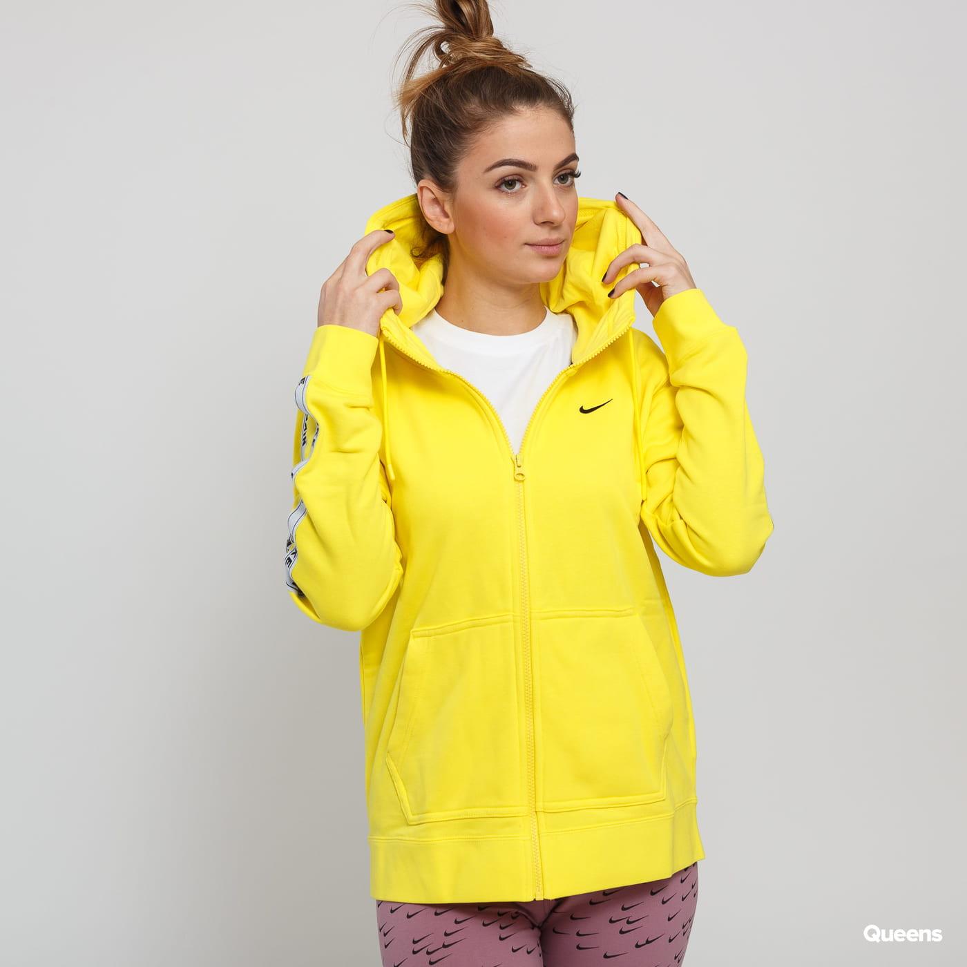 yellow nike hoodie women's