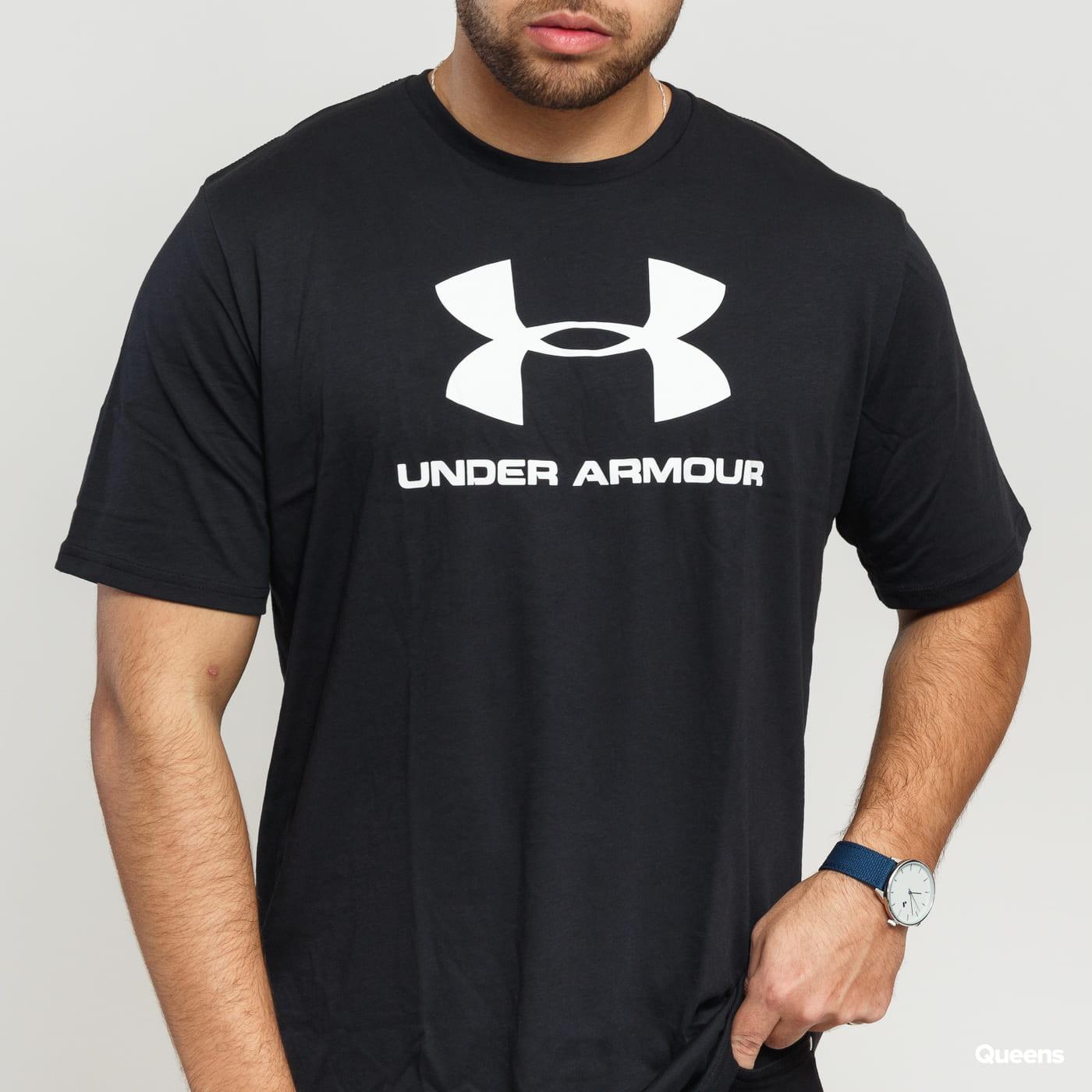 Under Armour Sportstyle Logo SS Tee black satin