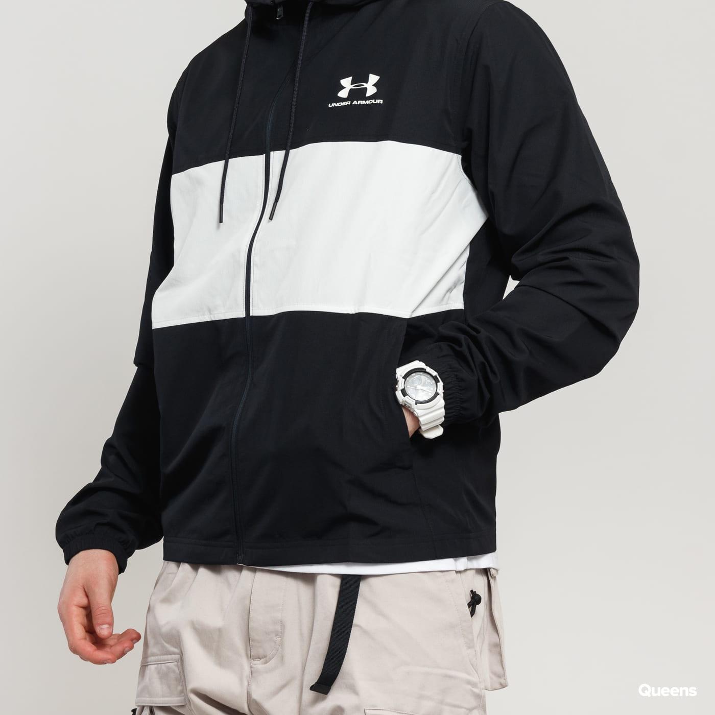 Under Armour Sportstyle Wind Jacket čierna / biela