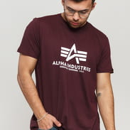 Alpha Industries Basic Tee dunkles weinrot