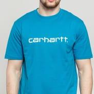 Carhartt WIP Script Tee modré