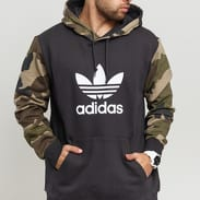 adidas Originals Camo OTH Hoody tmavě šedá / camo zelená / hnědá / béžová