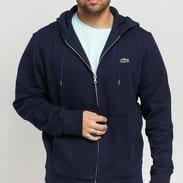 LACOSTE Full Zip Hooded Sweatshirt navy